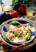 Ravioli ai pinoli (ravioli with pine nut butter & basil)
