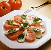 Insalata caprese (Mozzarella with tomatoes and basil)