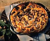 Plum tart with yeast pastry
