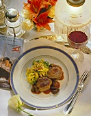 Tournedos steaks with morels and savoy