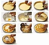 Streuselkuchen mit Aprikosen zubereiten