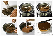 Tempering couverture (cake chocolate)