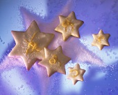 Star-shaped Christmas Cookies with Sugar