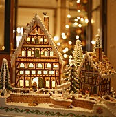 Two gingerbread houses for Christmas