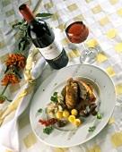 Gefüllte Fasanenbrust mit Maronensauce & Kartoffelbällchen