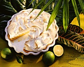 Lime tart with meringue topping