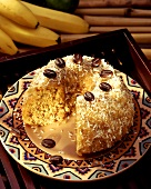 Banana and coconut cake