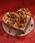 Chocolate heart with whisky and grated chocolate
