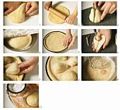 Hefe-Birnen-Tarte zubereiten