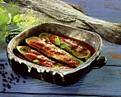 Courgettes stuffed with stockfish
