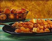 Majorcan tray-baked apricot cake