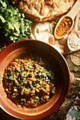 Lentils with curry and coriander (dhal)