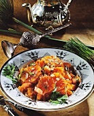 Orange & carrot salad with coriander from Egypt
