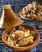 Moroccan tajine with mutton, almonds and honey