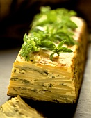 Potato cake with fresh herbs