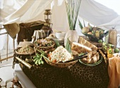 Exotic buffet with couscous salad, safari style