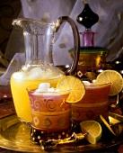 Fruit juice cocktail with maracuya, mango & pineapple juice