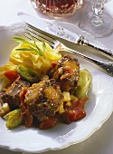 Oxtail and tomato ragout with ribbon noodles