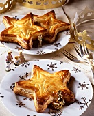 French special occasion baking: small star galettes