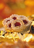 Rose hip biscuits in a bowl
