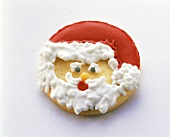 Baked Father Christmas face with icing