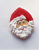 Iced biscuit Father Christmas face