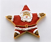Father Christmas as star with icing