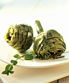 Artichokes with herb marinade