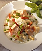 Fish ragout with white asparagus