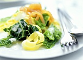 Tagliatelle alla valdostana (Ribbon pasta with salmon & savoy)