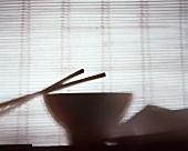 Asian chopsticks and bowl