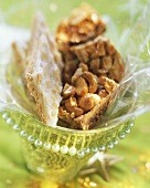 Almond diamonds and nut bars