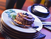 Tournedos Rossini (beef fillet with goose liver & truffles)