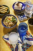 Turkish appetisers and drinks