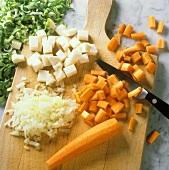 Dicing vegetables