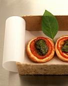 Pesto and tomato tartlet