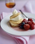 Mascarpone and macaroon tartlet with berries