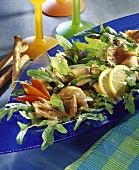 Oyster mushroom salad with rocket