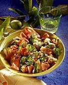 Broccoli and ham salad