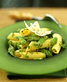Penne fave ed asparagi (Penne with broad beans and asparagus)