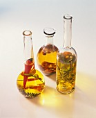 Oils with rosemary, chili and pepper