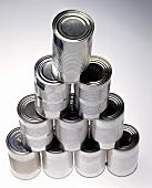 A pyramid of tins