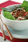 Beef on rice noodles (Bo Bun)