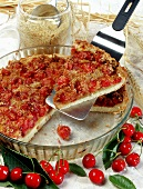 Wholemeal cherry tart