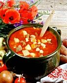 Hungarian beef stew (Pusstapörkölt)