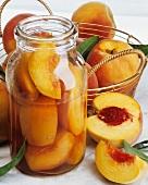 Bottled peaches