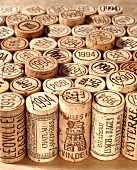 Various unused wine corks from the Bordeaux region