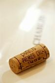 Weinkorken eines Chablis Premier Cru Jahrgang 1998