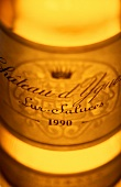 Close-up of a bottle of Chateau d'Yquem, 1990