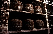Old port wines in wine cellar, Vila Nova de Gaia, Portugal